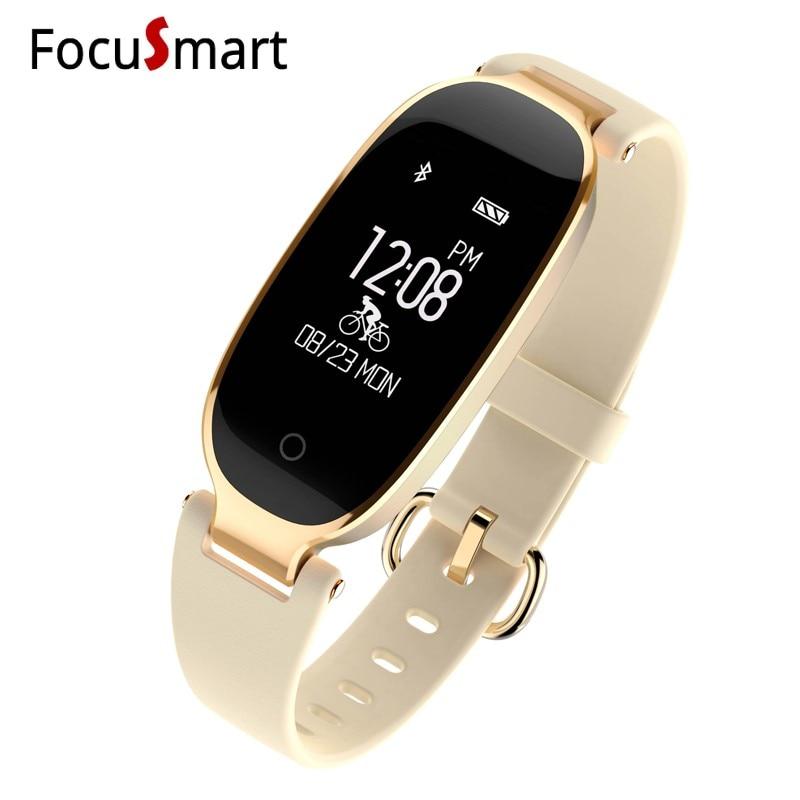 купить FocuSmart S3 Women Ladies Smart watch Fitness Tracker Blood pressure Sleep monitor Heart Rate Monitor Smart Band For IOS Andriod по цене 1821.65 рублей