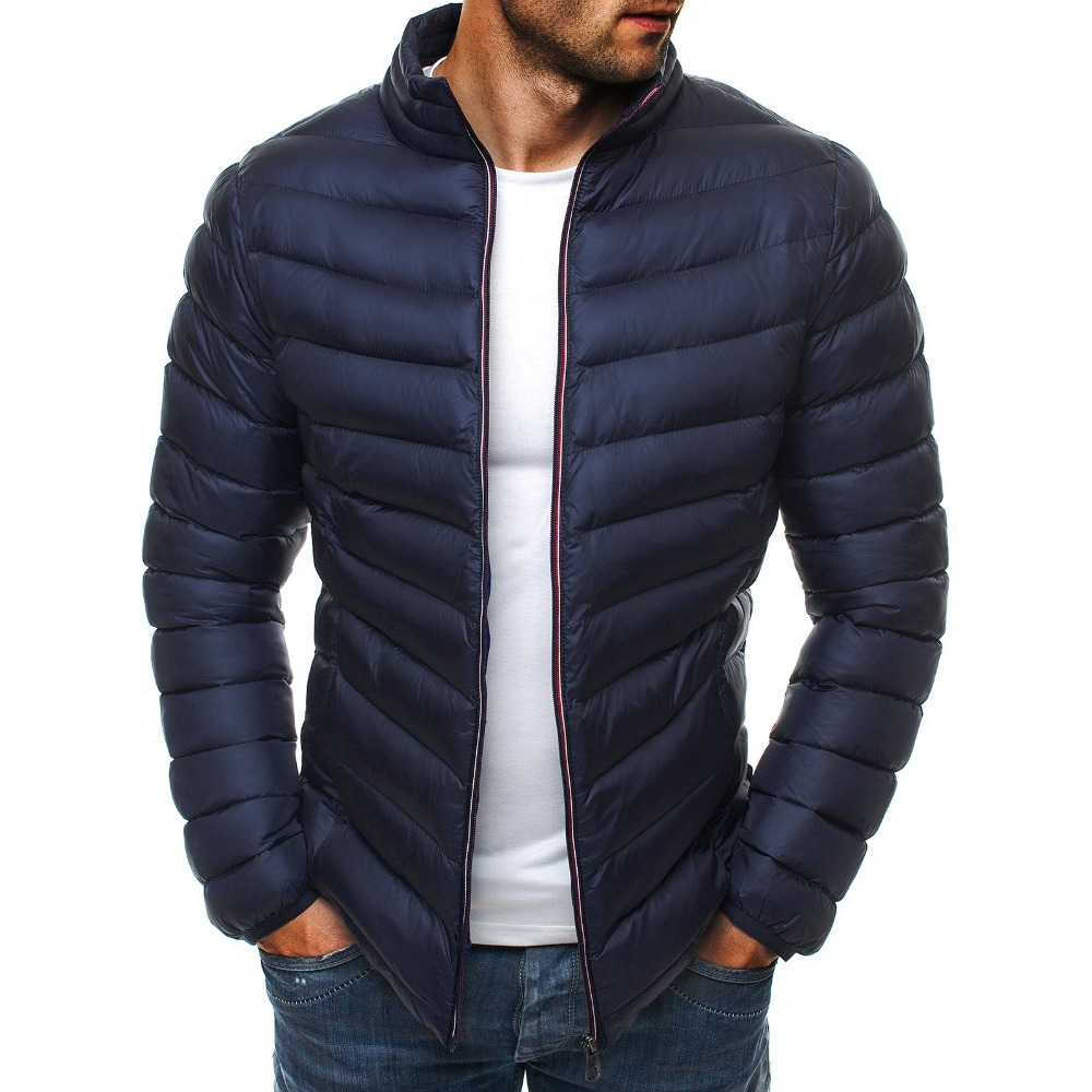 Winter Men   Parkas   Warm Stand Collar Jackets Coats Male Fashion Casual Solid Thick Slim Fit Down   Parkas   Coats Male Overcoats