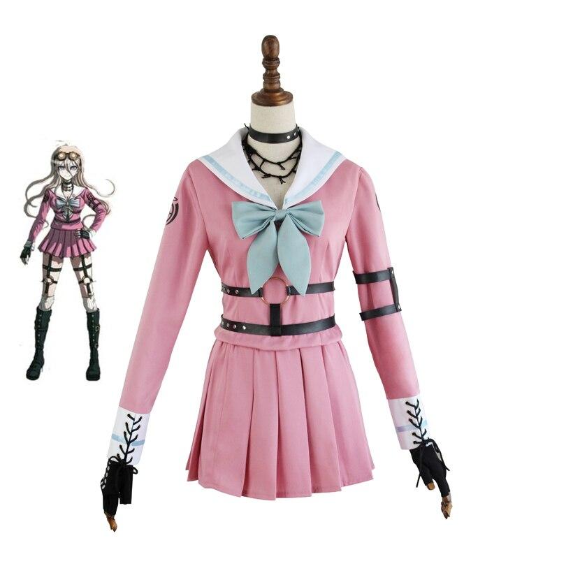 Danganronpa V3 Iruma Miu Králík Cosplay kostým Japonská hra Sailor Uniform oblečení oblečení oblečení