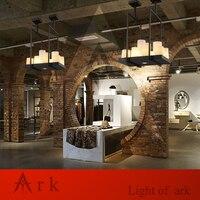 ARK LIGHT Vintage Flush Mount Creative Candle Holders Design Wrought Iron Chandelier for Foyer Restaurant Lighting E27 Lamp