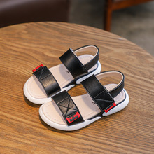 AFDSWG summer sandal kids leather girls sandals black little boys ,sport flat shoes