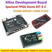 FPGA Demo Board Xilinx Spartan6 XC6SLX9 256M SDRAM EEPROM FLASH WM8731 Audio Module USB Download Cable