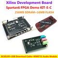 Placa Xilinx Spartan6 XC6SLX9 FPGA Demo (256 M SDRAM EEPROM FLASH) + WM8731 Módulo de Áudio + USB Download cabo = Spartan6 XC6SLX9 KIT-E-C