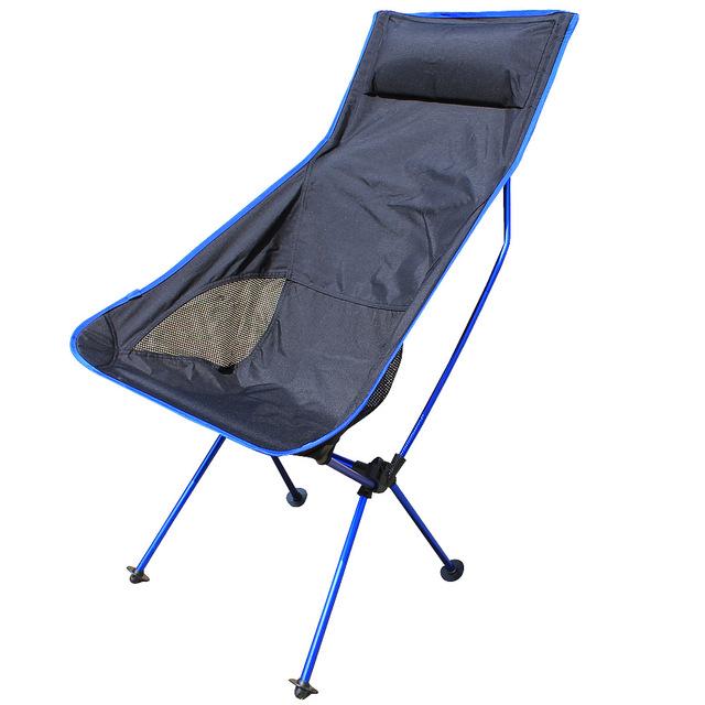 Poltrona de Lazer cadeira de Praia cadeira de pesca cadeiras dobráveis portáteis ao ar livre Do piquenique grande trombeta