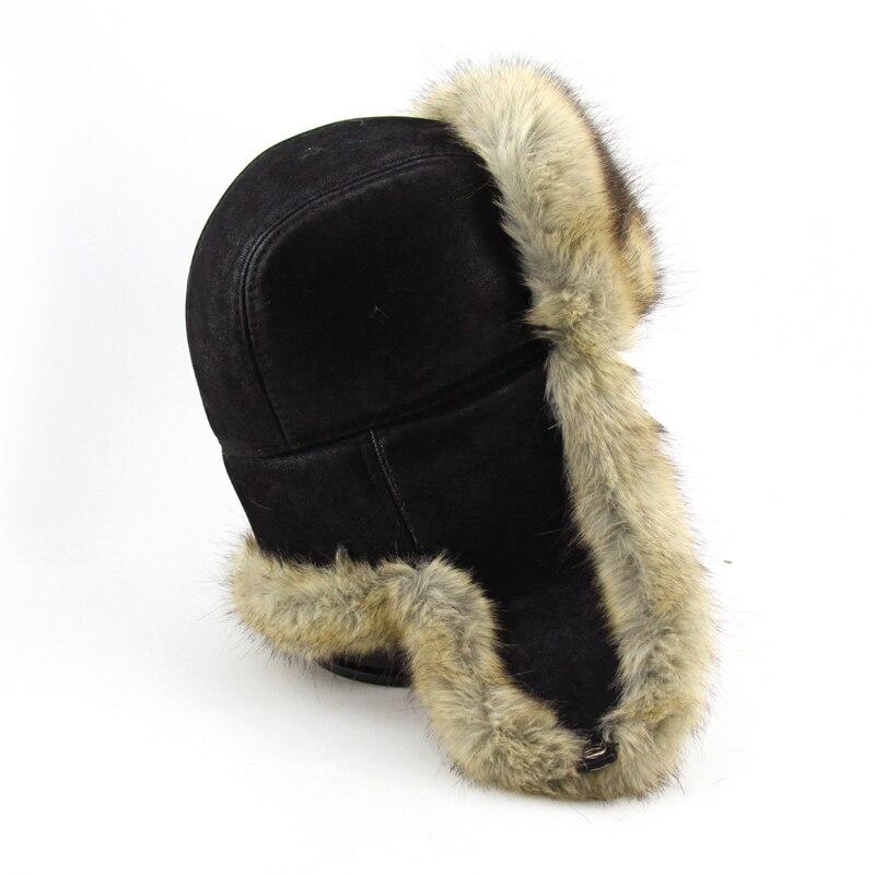 BFDADI Neue Ankunft Frauen Natürliche Kunstpelz Hüte für männer - Bekleidungszubehör - Foto 3