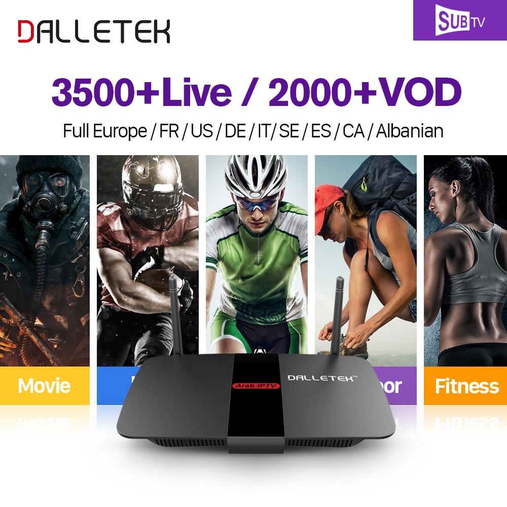 Dalletektv R1 IPTV French box Quad Core Android 6.0 Arabic Live Sports French IPTV subscription IPTV France VOD movies TV series