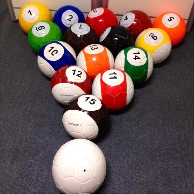 3# 16 Pcs Billiard Snooker Football Snook Ball 7 Inch Snookball Game Huge Billiards Pool Soccer Poolball Air Pump Toy Gaint