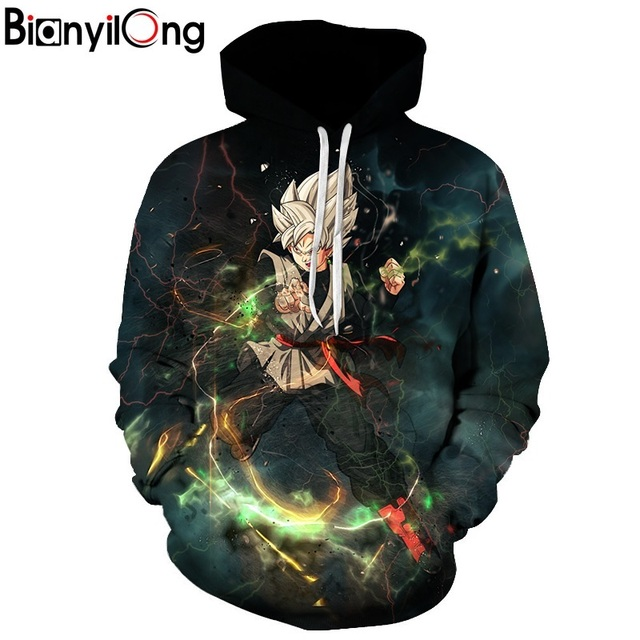 Dragon Ball Z 3D Sweatshirts With Cap Print Hoodie