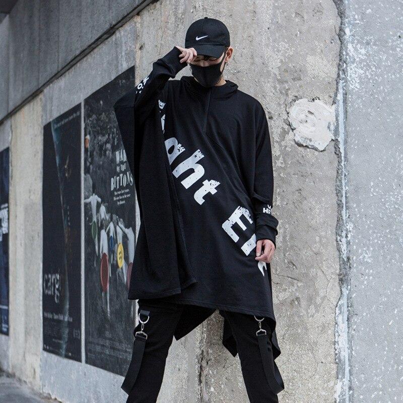 رجل عالية الشارع الهيب هوب الشرير هوديي فضفاض شالات سترة المتضخم الذكور الأزياء عارضة مقنعين البلوز عباءة المرحلة ازياء-في قمصان وسترات بقلنسوة من ملابس الرجال على  مجموعة 1