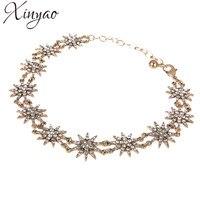 Xinyao 2017 כוכב קריסטל אופנה שרשראות לנשים וינטג 'choker שרשרת זהב chocker שרשרת הצהרת collares mujer f10153