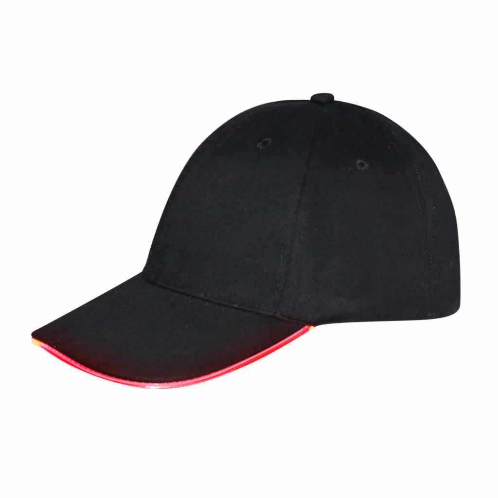 النساء الرجال قبعة بيسبول LED مضاء قبعة الوهج نادي حزب البيسبول قبعات سائق الشاحنة الهيب هوب قابل للتعديل قبعة رياضية أبي قبعة Snapback