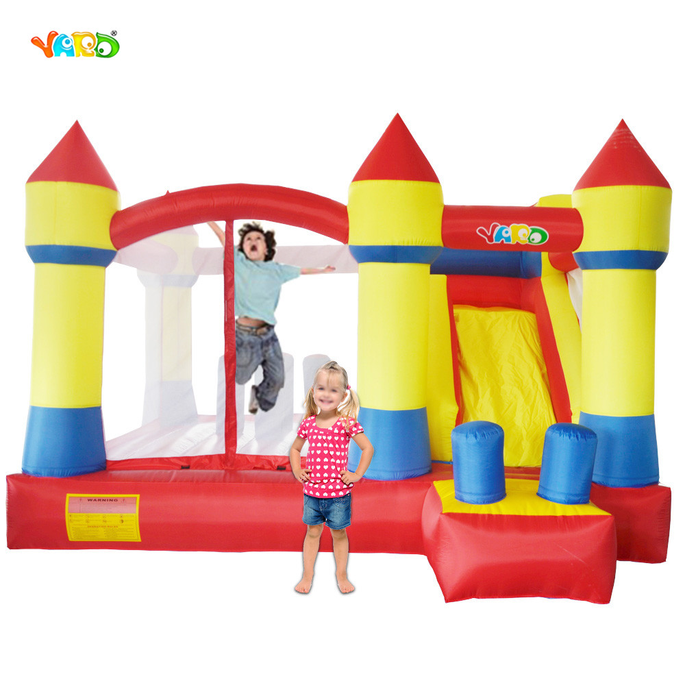 YARD Inflatable Trampolines With Inflatable Slide Children Party Bouncy Csatle Trampoline For Kids yard outdoor inflatable recreation 4 in 1 inflatable water slide with pool for children adult large size with blower funny play