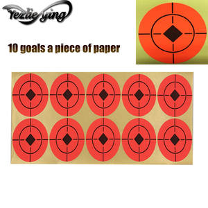 2 Round 250pcs Shooting Paper Target Florescent Self Adhesive Target Stickers for Archery Bow Hunting Shooting Practice Orange