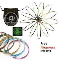 Toroflux Torofluxus Flowtoy Amazing Flow Ring Toys Kinetic Spring Toy Funny Outdoor Game Intelligent Toy Fidget Spinner Metal jo