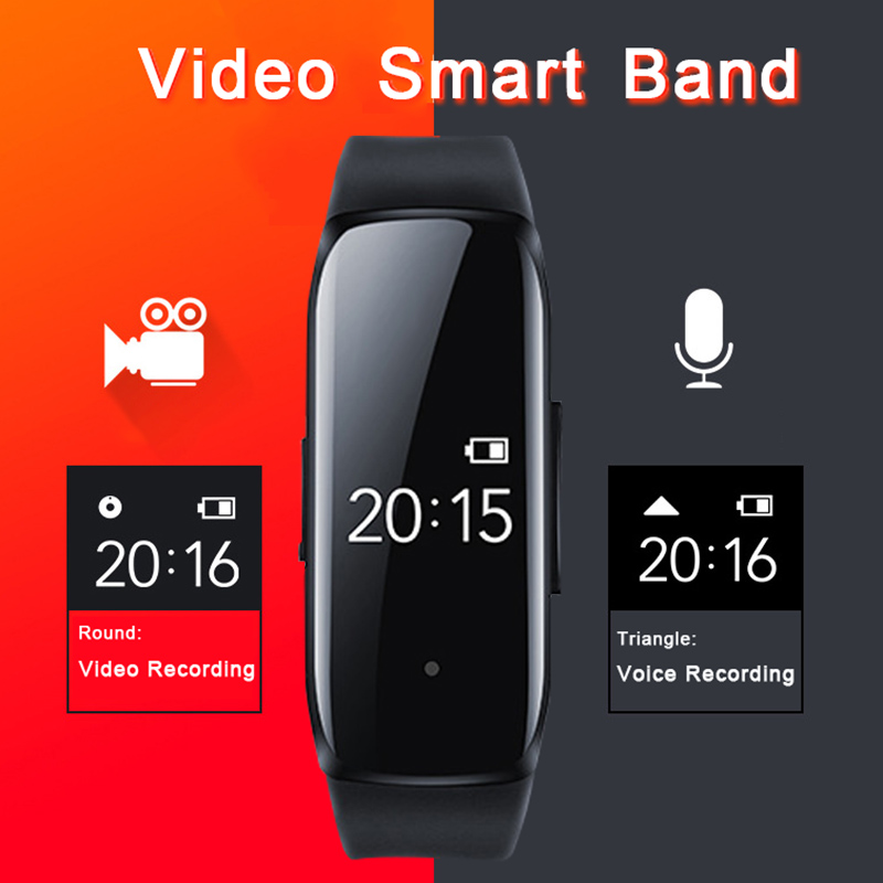 Neue 1080P Professinal Kamera Stimme Video Foto Audio Sound Recording <font><b>Cam</b></font> Recorder Smart Band Uhr Armband Smartband 8G /16G/32G image