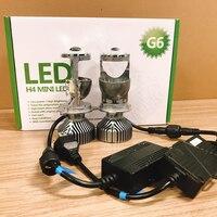 70W/Pair Lamp H4 LED Mini Projector Lens Automobles LED Bulb LED Conversion Kit Hi/Lo Beam Headlight 12V/24V 5500K White