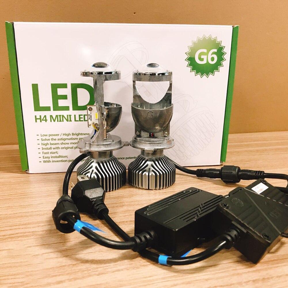 Cветодиодные лампы для авто фары led лампа ходовые огни лед диодные лампы для авто Автомобиль светодиодный лампы мини H4 60 Вт объектив проекто...