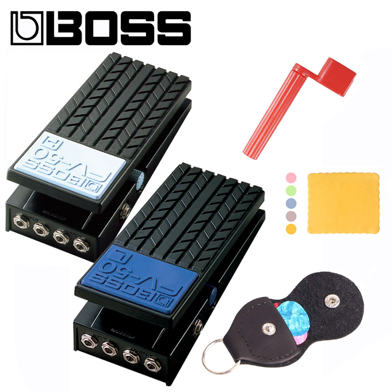 Boss FV-50H/FV-50L High Impedance Volume Pedal/StereoVolume Pedal Bundle with Picks, pickbag, Polishing Cloth and Strings Winder boss audio fv 50h high impedance volume pedal