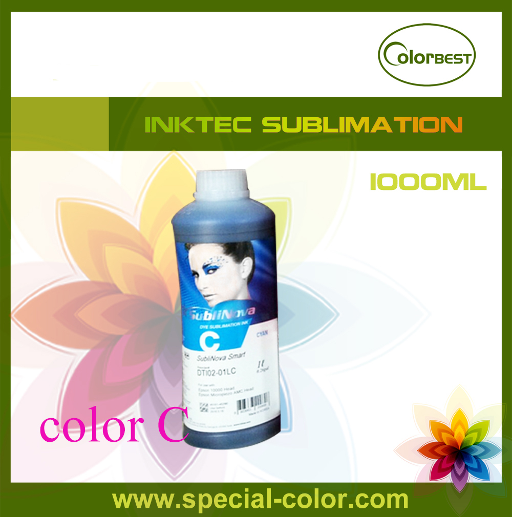 все цены на  Hot Selling! Color Cyan Inktec SubliNova Smart 1000ml Bottle Ink for Epson DX4  онлайн