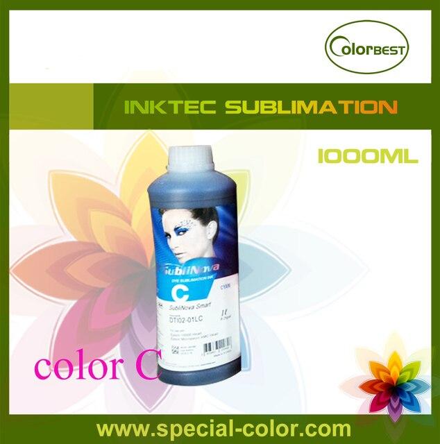 Лидер продаж! Цвет голубой inktec sublinova Смарт 1000 мл бутылки чернила для Epson DX4