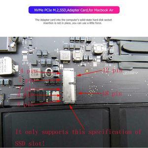Image 3 - NVMe PCIe M.2 M ключ SSD адаптер карта расширения поддержка PCI Express 3,0 X4 для Macbook Air 2013 2014 2015