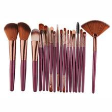 18Pcs Makeup Brushes Tool Set Cosmetic Powder Eye Shadow Foundation Blush Blending Beauty Make Up Brush Maquiagem недорого