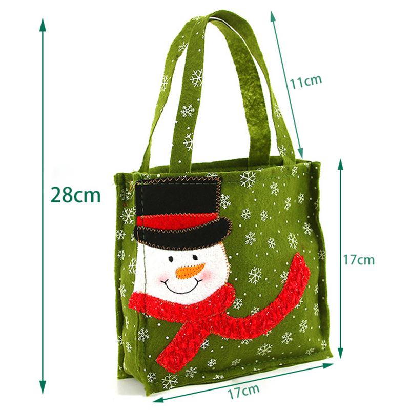 Image 5 - New Year Xmas Gifts Santa Claus Snowman Candy Bags Hangable Pouch Handbag Merry Christmas Storage Package Container Organizer-in Stockings & Gift Holders from Home & Garden