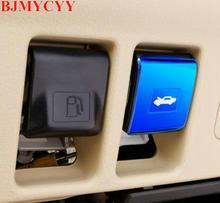 BJMYCYY araba styling otomotiv motor kapak anahtarı paslanmaz çelik dekoratif sequins Toyota Prado 2700 2010 2018 için
