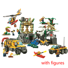 10712 Ungle Jungle Exploration Site Building Block Toys Children Gifts Cities Compatible with City Jungle 60161