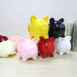 Chinese Style Pig Piggy Bank Furniture Living Room Bedroom Shatterproof Resin Gift Children's Gift