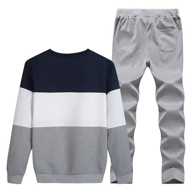 FeiTong Men Tracksuit Set Winter O Neck Long Sleeve Sweater and Pants Baseball Uniform Sports Track Sweat Suit Survetement Homme