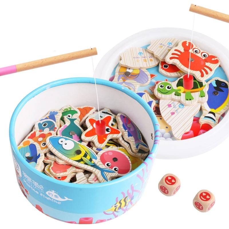 Logwood 60pcs Set Magnetic Fishing Toy Game Kids 3 Rod 3D Fish Baby - გარე გართობა და სპორტი - ფოტო 2