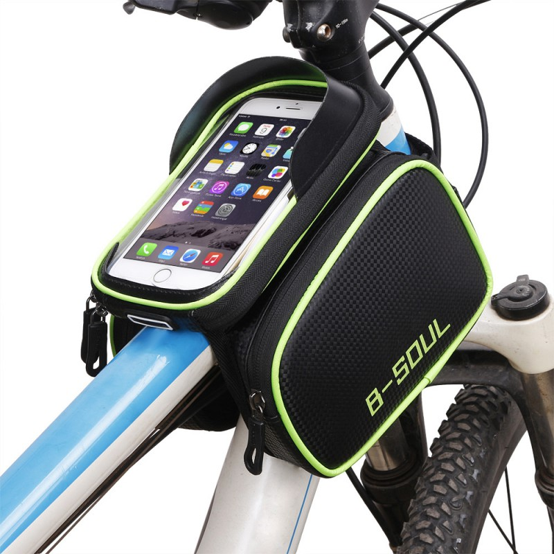 B-SOUL bicycle bag front beam waterproof mountain bike saddle bag mobile phone bag on the tube package riding bag