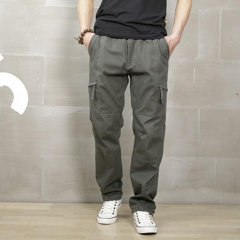 2019 Pantaloni Cargo Tattici Degli Uomini Di Combattimento Swat Esercito Militare Pantaloni Di Cotone Molte Tasche Stretch Flessibile Uomo Casual Pantaloni