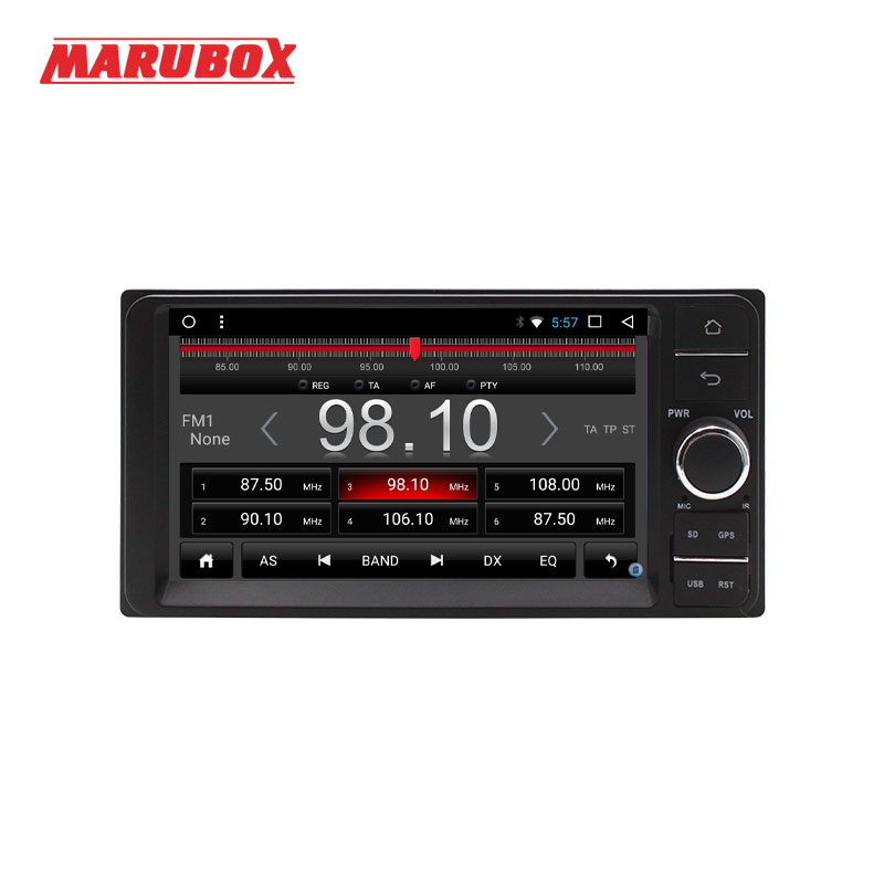 Marubox Universal Android 7.1 Quad Core 2 Din For Toyota Wifi GPS 1024*600 7 Stereo Radio Audio Car Multimedia Player 7A701T3