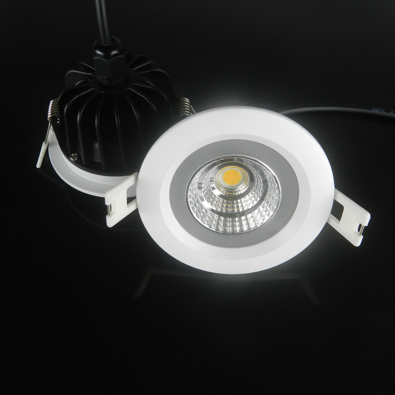 5w 7w 9w 12w Dimmable COB LED Ceiling down Light round Recessed Led Downlight IP65 Waterproof AC220-265V home decor lighting rayway new dimmable 5w led cob ceiling downlight ac85 265v recessed cob down light led ceiling lamp wardrobe showcase lighting
