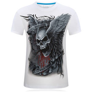 4e299d0138a63 SWENEARO Printed 3D Tee shirt white Summer T shirt Men s