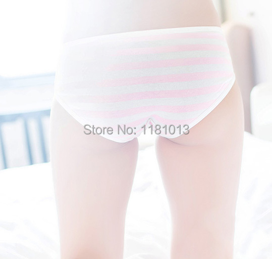 Miku Green White Stripe Briefs Vocaloid cosplay Anime Panty Japanese knickers