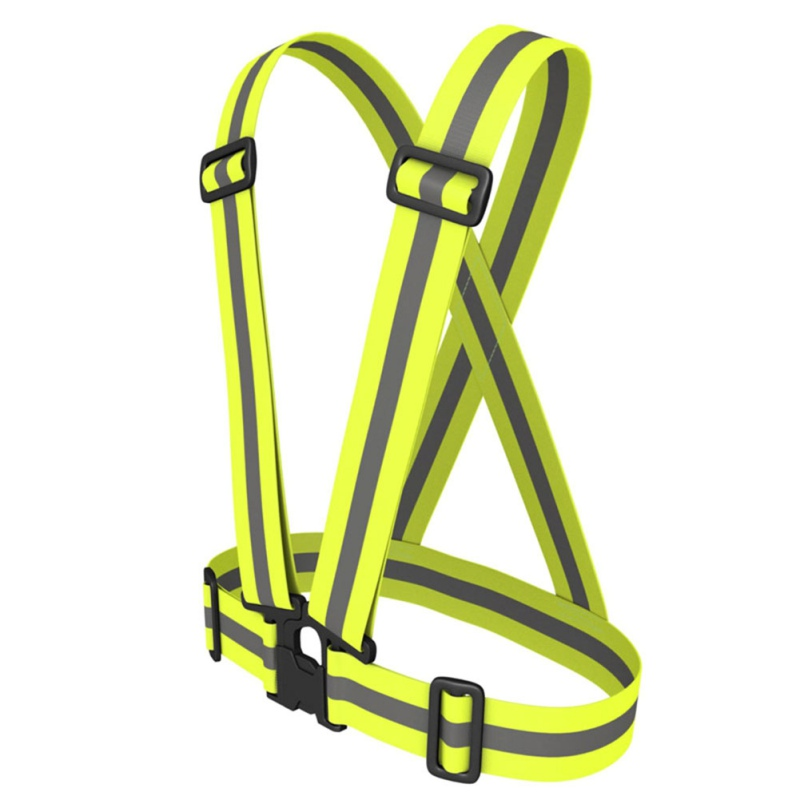 2019 Adult Safety Security High Visibility Reflective Vest Gear Stripes Jacket For Hiking Cycling Riding Outdoor Sports