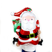 HOT 30pcs/lot Christmas Decoration jump Santa Claus Aluminum Foil Balloons Inflatable Ballon Merry Xmas New Year Party supplies