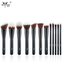 New Professional Makeup Brushes 12 Pieces Makeup Brush Set Synthetic Soft Make Up Brushes For Making