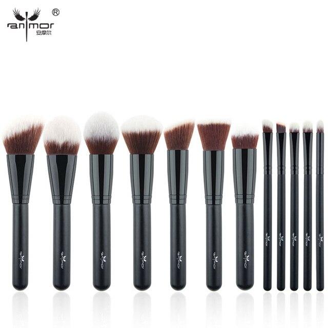Anmor Профессиональные Кисти Для Макияжа 12 Шт. Makeup Brush Set Синтетических Мягкий Макияж Кисти Красоты Макияж Инструменты