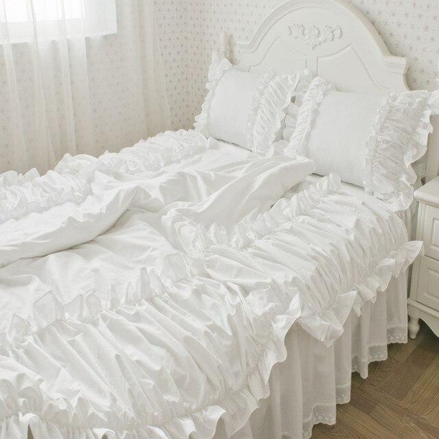 Freies Verschiffen 100 Baumwolle Satin Koreanische Prinzessin Weiß