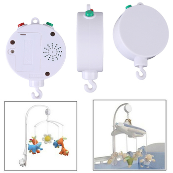 35 canciones rotatorio cuna móvil cama campana juguete caja de música operada por batería recién nacido campana cuna juguete para bebé, eléctrico 0-12 meses