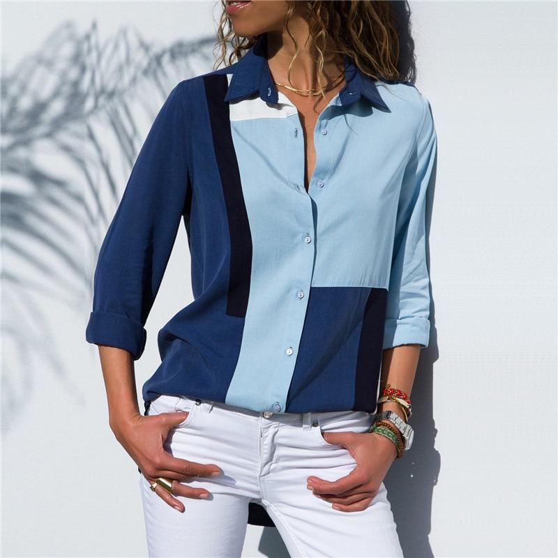 Turn Down Collar Shirt Office Women Blouses Long Sleeve Blouse 2019 Autumn Fashion Shirts Casual Plus Size Tops Blusas Feminina