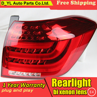 Car Styling for Tail Lights 2012 2014 Toyota Highlander LED Rear Light Fog light Rear Lamp DRL Brake+Park+Signal