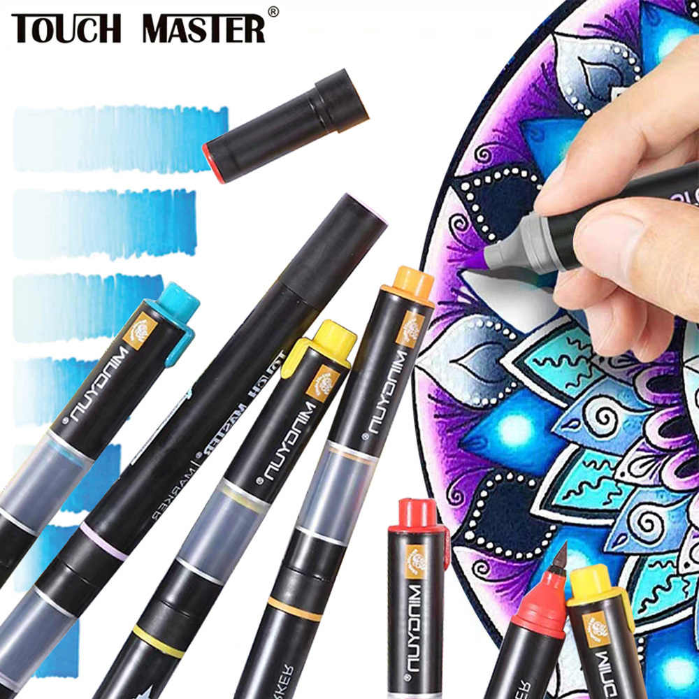 Stabilo Chameleon Brush Pen 20 Gradient Colors Dual Head Alcohol Copic Markers Art Supplies  Soft Calligraphy Pens Markers Manga