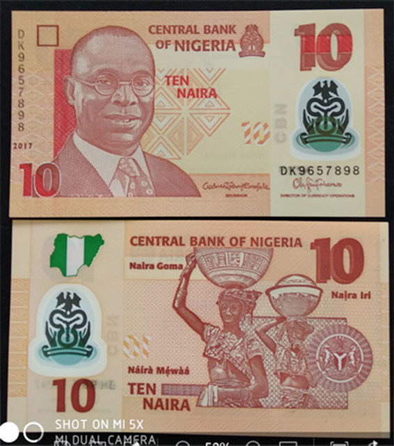 US $0 45 |Nigeria Ten Naira Plastic Banknote 2017-in Non-currency Coins  from Home & Garden on Aliexpress com | Alibaba Group