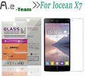 Aierwill Front Explosionproof For Iocean X7 Tempered Glass 9H+ 2.5D Screen Protector Film High Quality For Iocean X7 smartphone