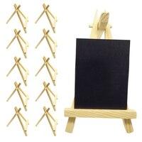 10 шт. сосновая древесина мини-мольберт треугольник картина художника стол Свадебный номер имя меню карта дисплей стенд доска
